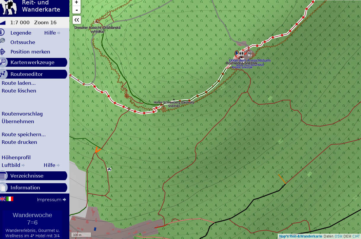 Der Kartendienst Mapy Cz Cyberleaf